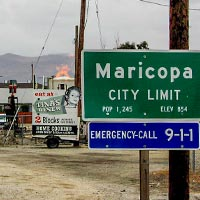 Entering the City of Maricopa